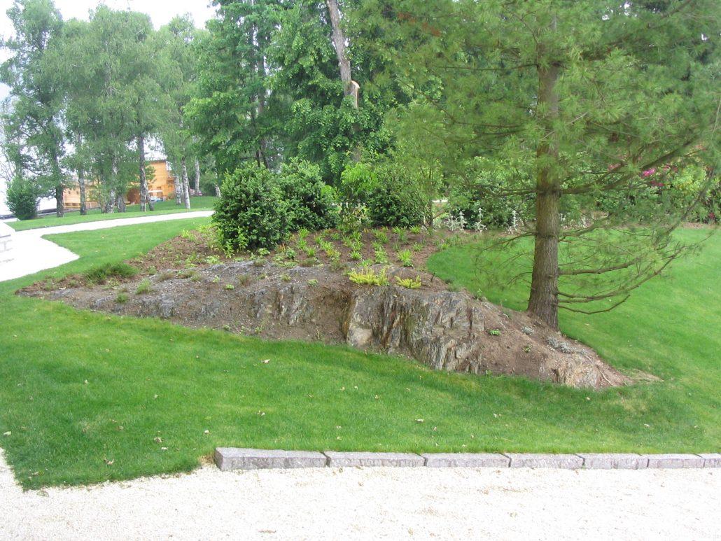 Landschaftsgestaltung mit Gestein