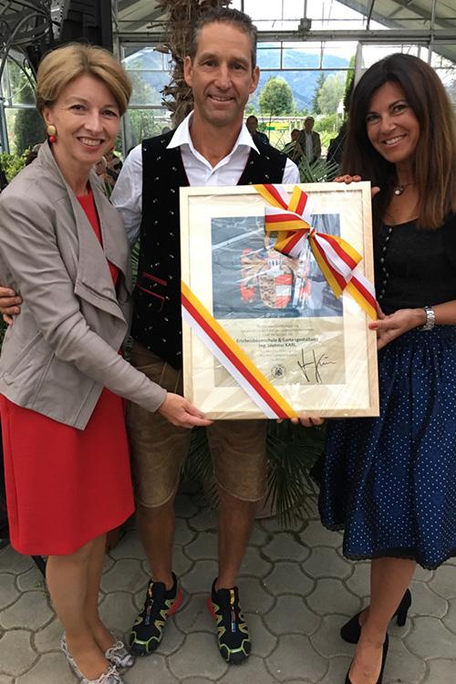 Auszeichnung der Baumschule Karl
